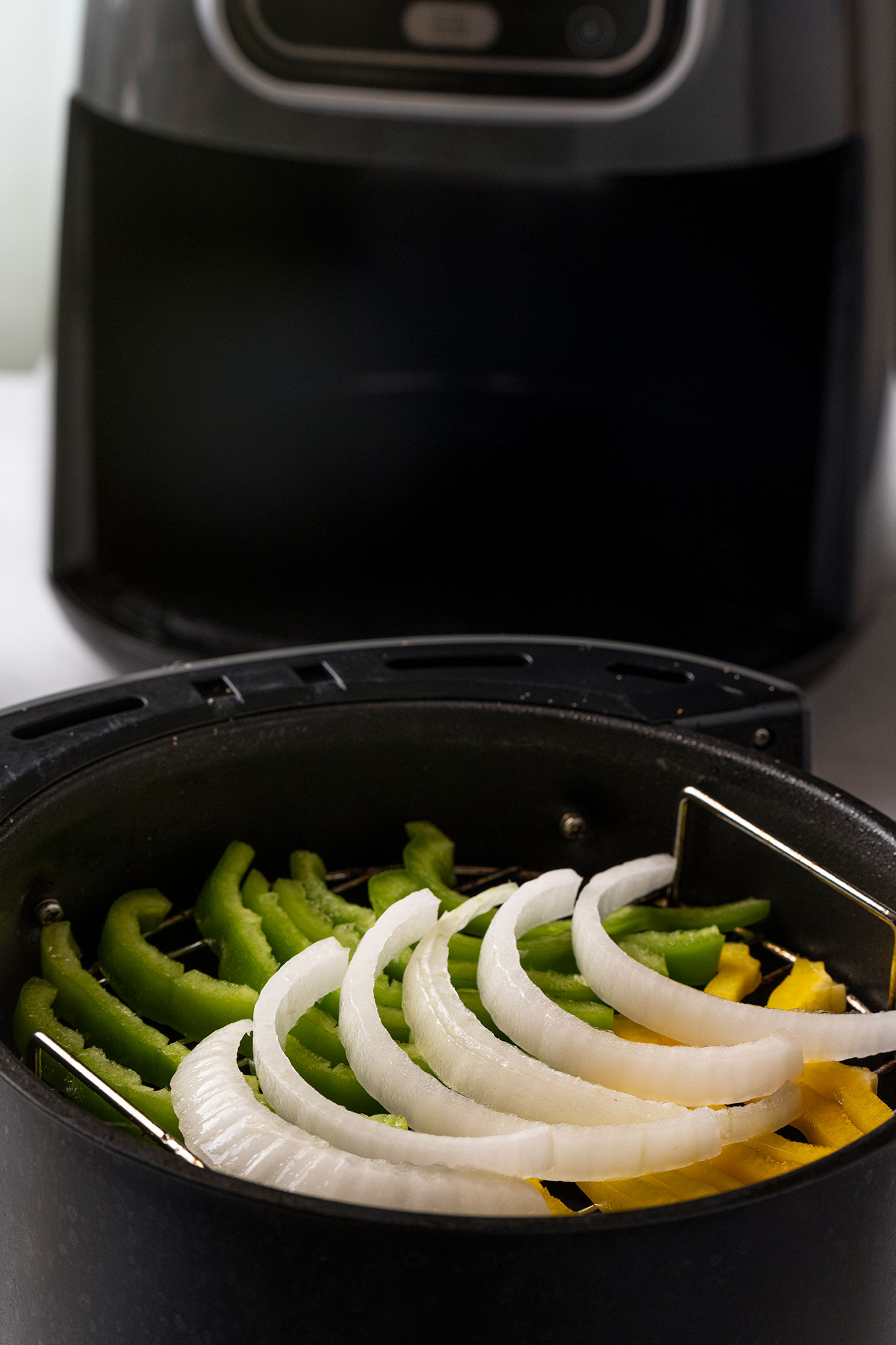 air fryer taquito building vegetables