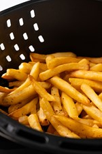 french fries in air fryer cooked
