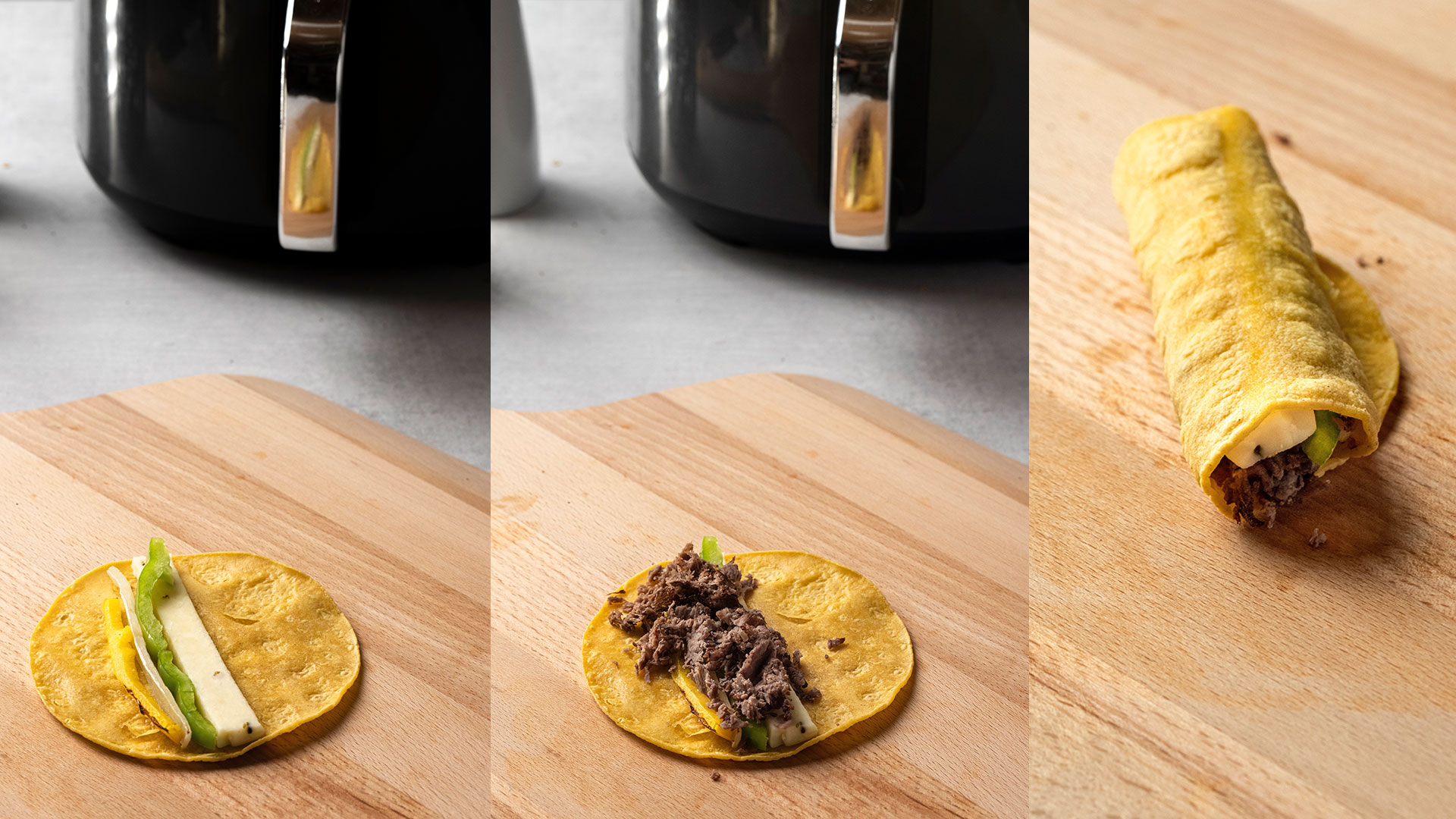 building taquito air fryer beef