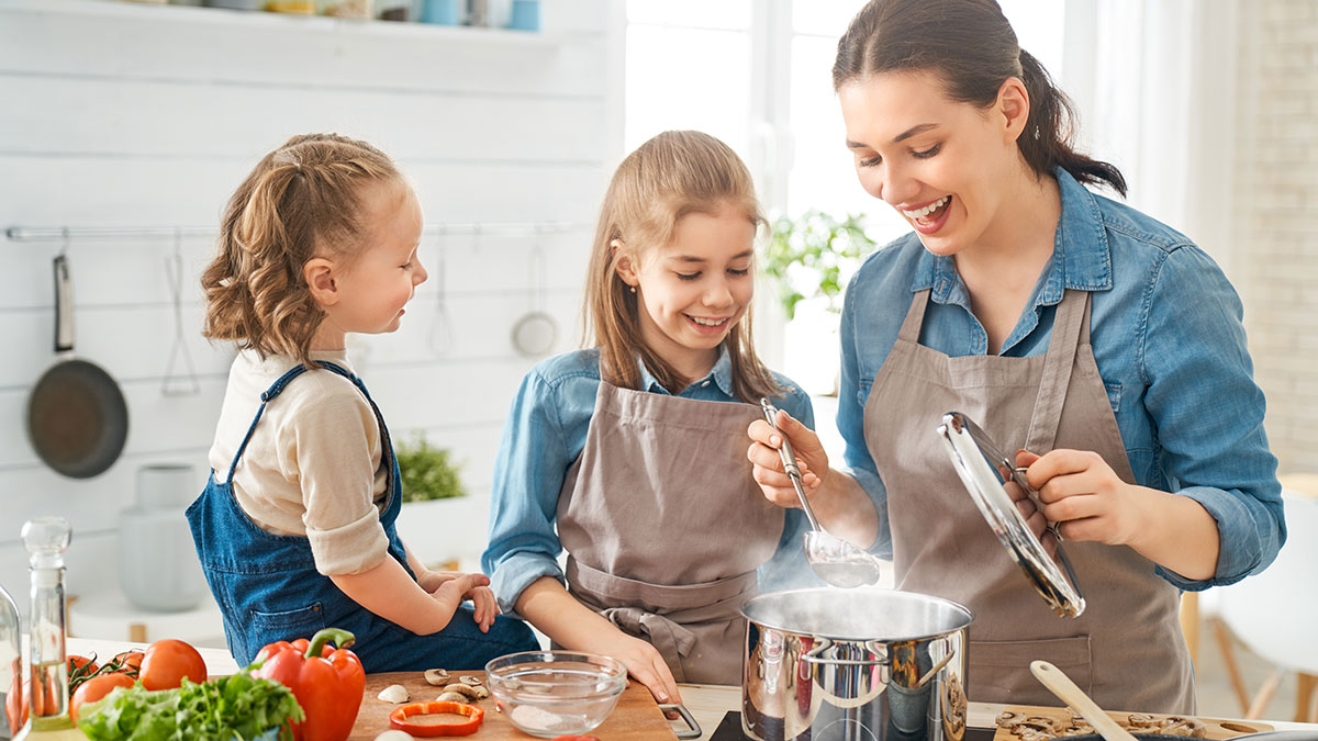 tips for cooking together as a family kids