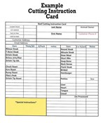 cutting instruction example